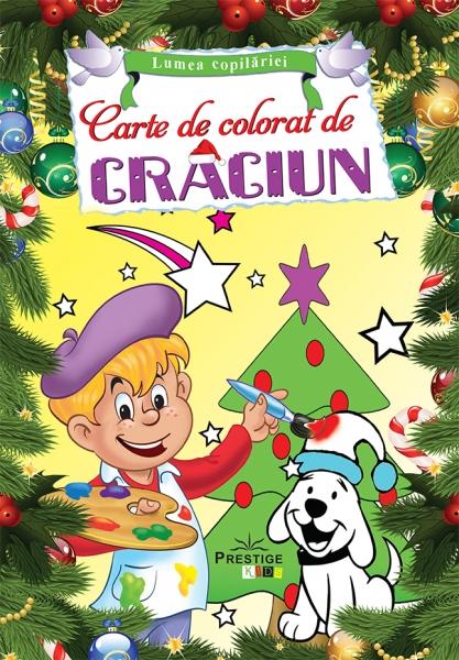 carte de colorat de craciun