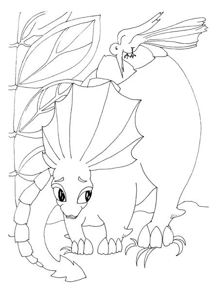 Dinozauri jucausi - carte de colorat