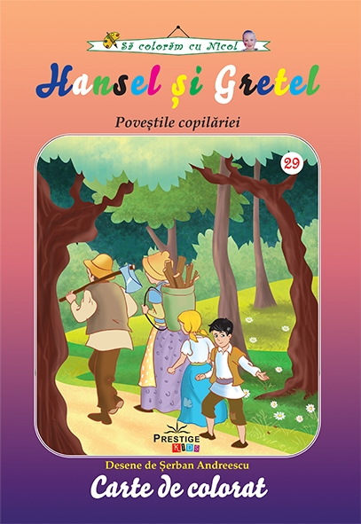 Hansel si Gretel carte de colorat