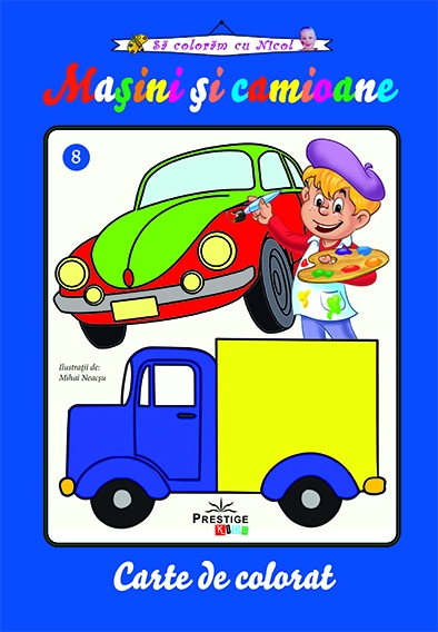 Masini si camioane, carte de colorat 0